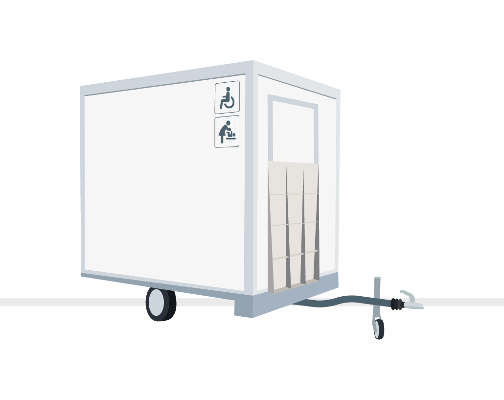 Miet WC Toilettenwagen barrierefrei