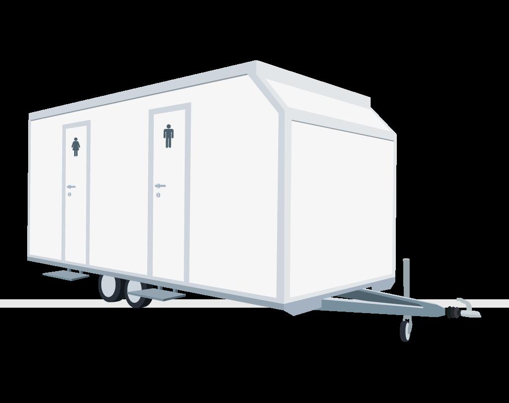 Miet WC Toilettenwagen Comfort