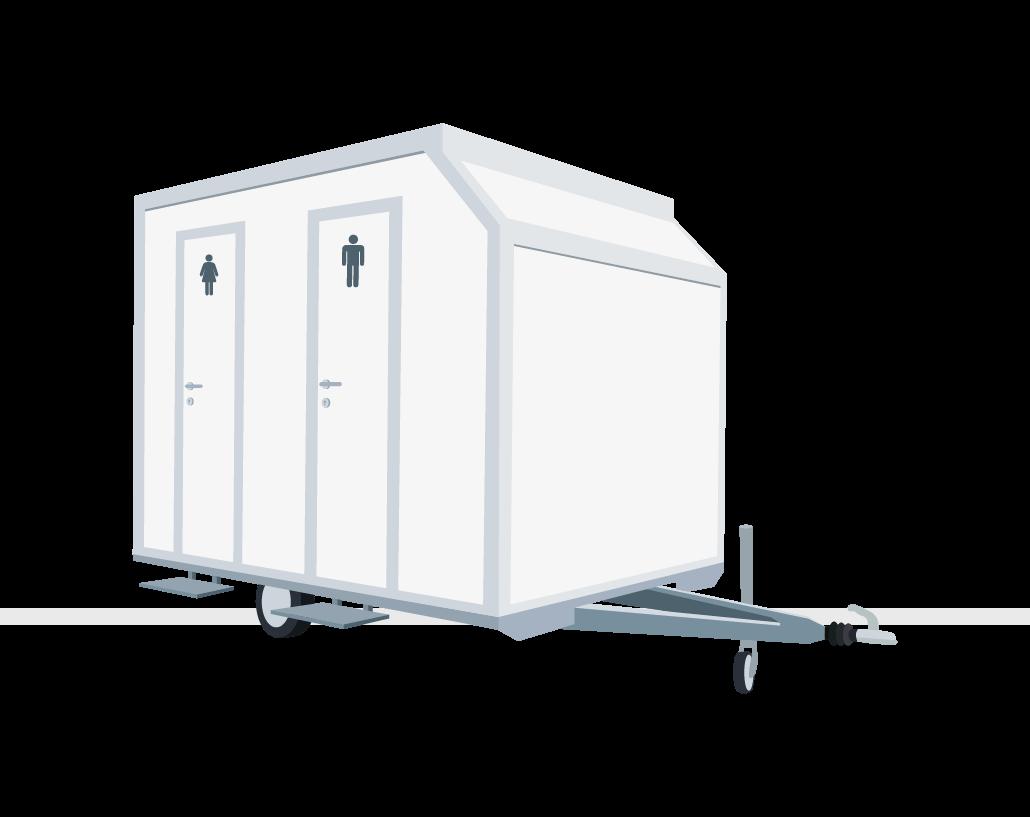 Miet WC Toilettenwagen Midi